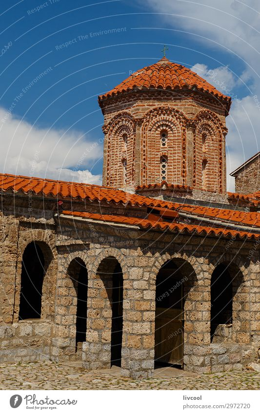 Naum Monastery, Macedonia - Albania Sky Vacation & Travel Clouds Architecture Religion and faith Building Art Tourism Stone Facade Europe Church Historic Roof