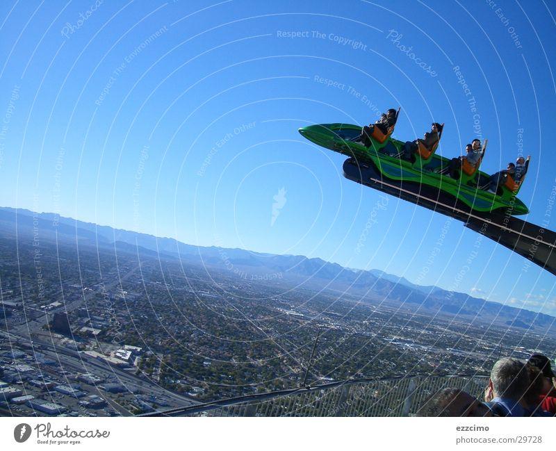 Far-off places Tall Desert Nevada Roller coaster North America Las Vegas