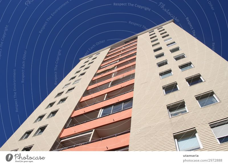 Block of flats in the suburbia. Spring Winter Beautiful weather Town Outskirts House (Residential Structure) High-rise Manmade structures Architecture Facade