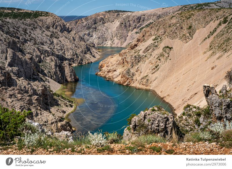 Zrmanja-Cayon in Kroatien (2) Environment Nature Landscape Summer Park Rock Canyon River Blue Silver Turquoise Adventure Vacation & Travel Tourism Croatia