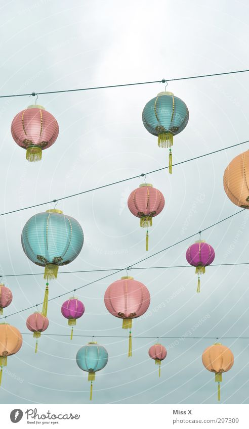 Colourful hustle and bustle Garden Party Event Restaurant Going out Feasts & Celebrations Sky Illuminate Bright Multicoloured Lampion China Chinese New Year