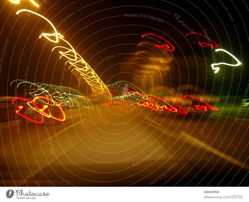 Motorway #2 Transport Mobility Highway Exposure Light Night Driving Blur Tilt