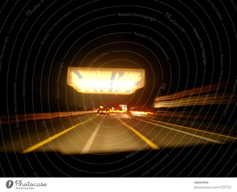 Motorway #1 Highway Vehicle Driving Night Signs and labeling Exposure Speed Driver Transport Vacation & Travel
