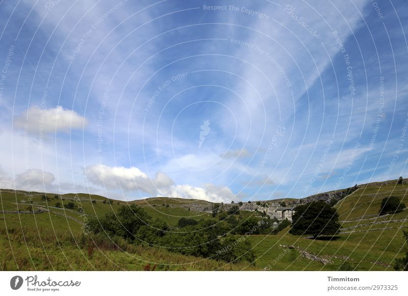 Malham Cove Vacation & Travel Environment Nature Landscape Sky Beautiful weather Great Britain Yorkshire Relaxation Hiking Natural Blue Green Emotions