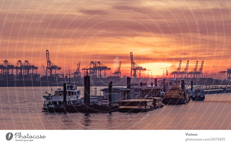 sundown övelgönne Town Port City Harbour Tourist Attraction Landmark Navigation Inland navigation Steamer Watercraft Anchor Discover Vacation & Travel