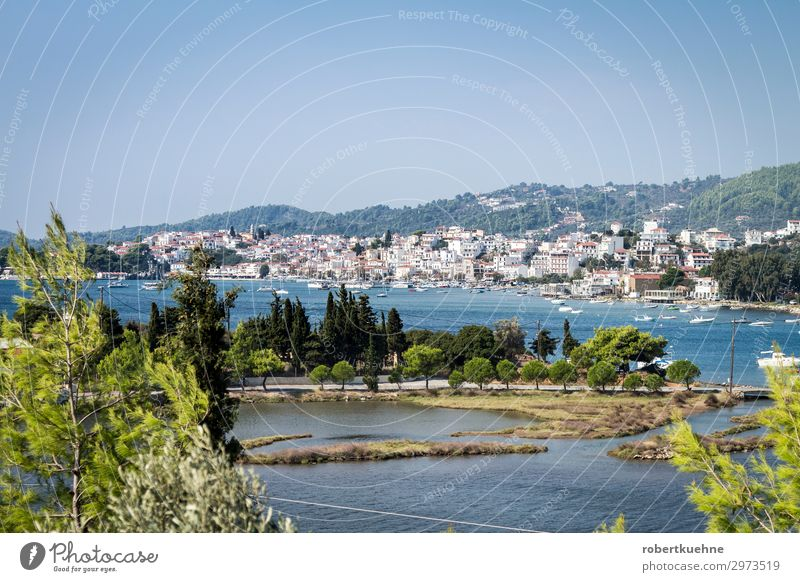 Village Skiathos on the island of the same name in Greece Vacation & Travel Tourism Sightseeing City trip Cruise Summer Summer vacation Sun Beach Ocean Island