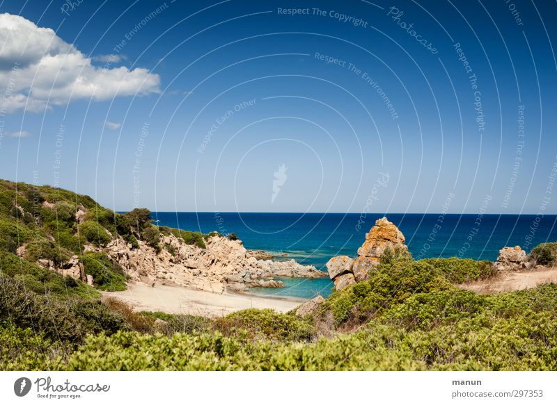 Sky Nature Vacation & Travel Water Summer Ocean Landscape Beach Far-off places Warmth Coast Sand Air Rock Earth Island