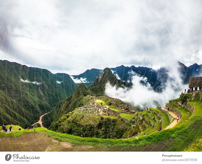 Machu Picchu - Wonder of the World, World Heritage Site Sky Vacation & Travel Old Green Landscape Forest Mountain Architecture Lanes & trails Tourism Stone