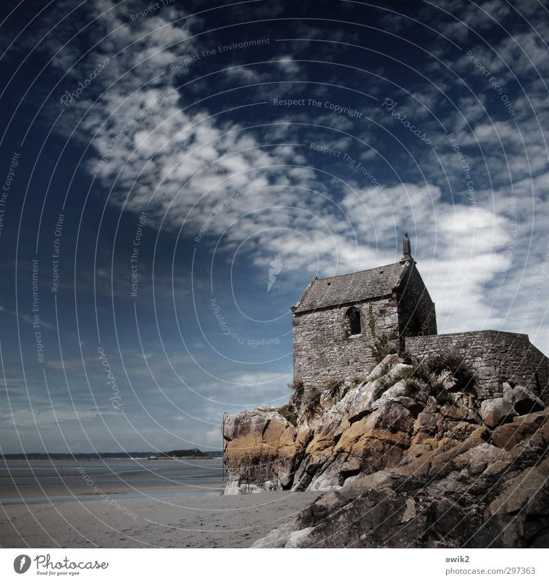 Chapel with sea view Vacation & Travel Tourism Trip Far-off places Freedom Environment Nature Landscape Sky Clouds Horizon Climate Weather Beautiful weather