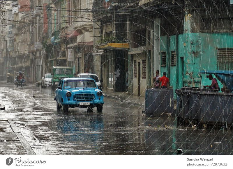 Havana, Cuba Vacation & Travel Tourism Adventure Far-off places Sightseeing City trip Summer Summer vacation Drops of water Weather Bad weather Rain Caribbean