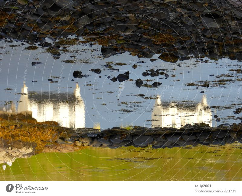 House (Residential Structure) Coast Stone Living or residing Perspective Irritation Surrealism Bizarre Scotland Apocalyptic sentiment Detached house Low tide