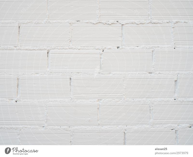 Wall of bricks painted of white Design Wallpaper Building Architecture Concrete Brick Old Clean White backdrop background block Brick wall brickwork Cement