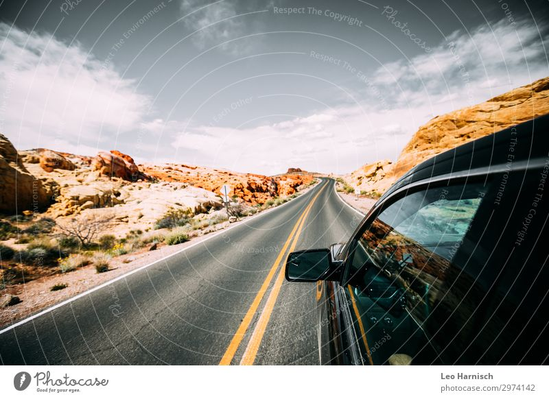 road trip Lifestyle Vacation & Travel Adventure Far-off places Freedom Summer vacation Rock Wanderlust Street Desert USA Americas Nature Environment Stone