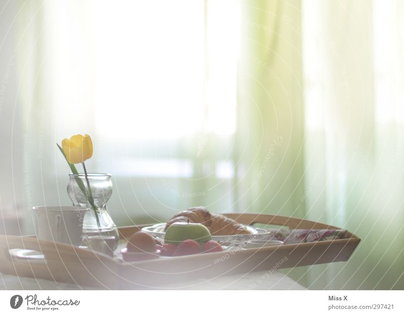 Window Food Fruit Decoration Beverage Nutrition Coffee Bed Apple Delicious Breakfast Tulip Roll Bedroom Tray Croissant
