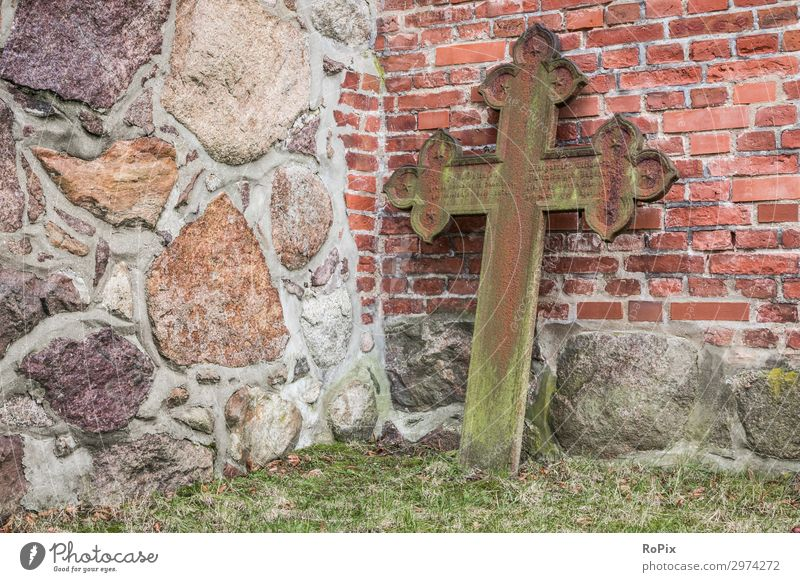 Rusty grave cross on a church wall. Cemetery Prayer celitc Celtic Crucifix England Scotland scotland prayer graveyard Death death weaker mourning religion