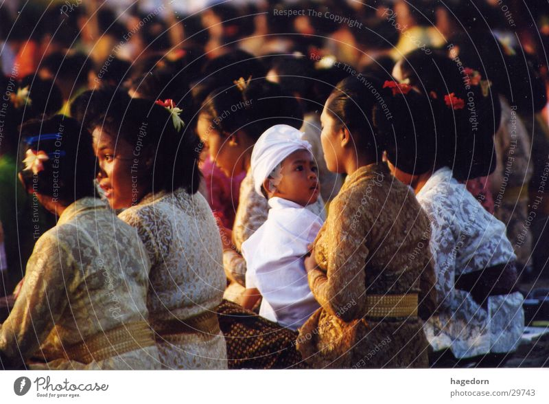 Child Boy (child) Group Family & Relations Mother Prayer Asia Parents Indonesia Ceremony