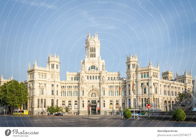 Palace of communications in Cibeles square, Madrid Vacation & Travel Old Architecture Building Art Tourism Facade Europe Communicate Culture Places Historic