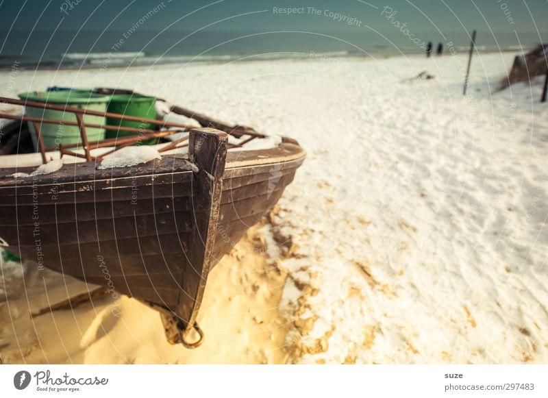 treasure hunt Relaxation Calm Vacation & Travel Freedom Beach Ocean Winter Snow Environment Elements Sand Water Sky Horizon Coast Baltic Sea Harbour