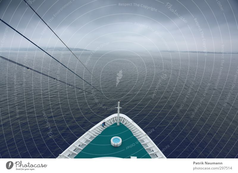 Iceberg ahead? Vacation & Travel Far-off places Cruise Ocean Island Waves Couple Water Sky Clouds Bad weather Storm Fog Rain Thunder and lightning North Sea
