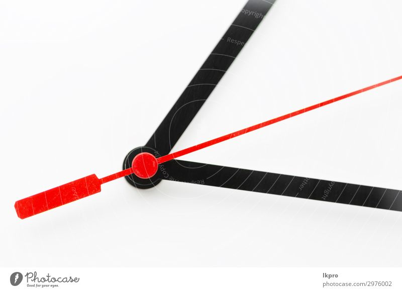 clock in the white background Clock Success Work and employment Office Business Observe Dirty Modern Red Black White Idea Future time Conceptual design