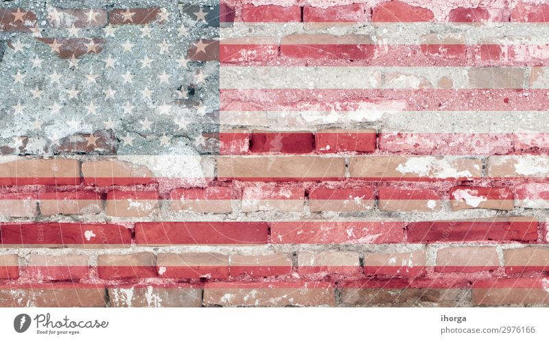 United States flag with brick texture Freedom Feasts & Celebrations Monument Stripe Flag Blue Red Honor Colour Independence July USA American Blank Elections