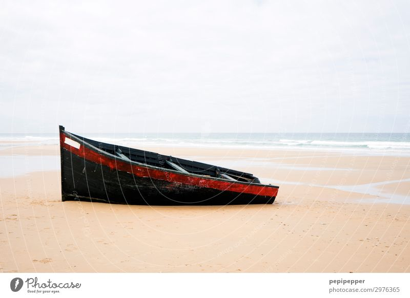 Sky Vacation & Travel Summer Water Red Ocean Far-off places Beach Black Wood Coast Tourism Freedom Sand Trip Waves