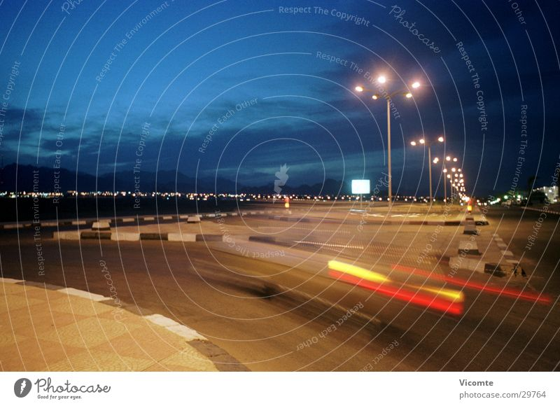 night ride Night Speed Street lighting Egypt Long exposure Transport Curve Landscape