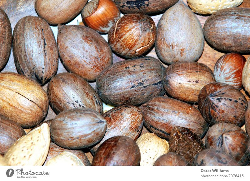 Mixed nuts in shells. Nut pecans Almond cashews Hazelnut Shell Raw Delicious Healthy Eating Nutrition Energy Organic Crunchy Snack