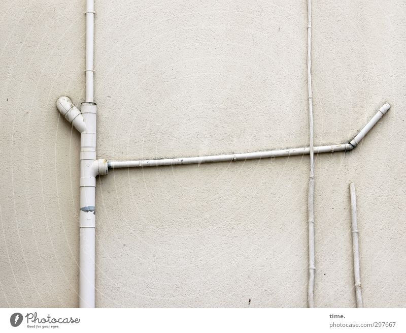 I put so much effort into it ... Wall (barrier) Wall (building) Facade Downspout Drainpipe Cable Transmission lines Stone Plastic Sustainability Original