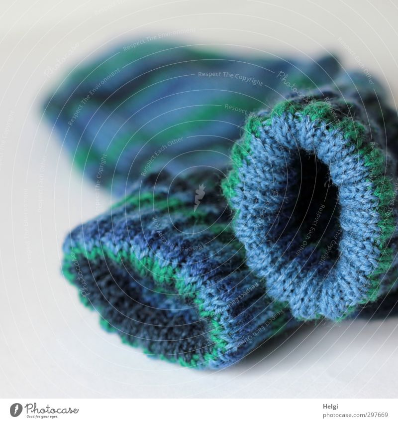 I went to so much trouble. Leisure and hobbies Handcrafts Knit Stockings Lie Esthetic Beautiful Uniqueness Blue Green Joie de vivre (Vitality) Diligent Effort