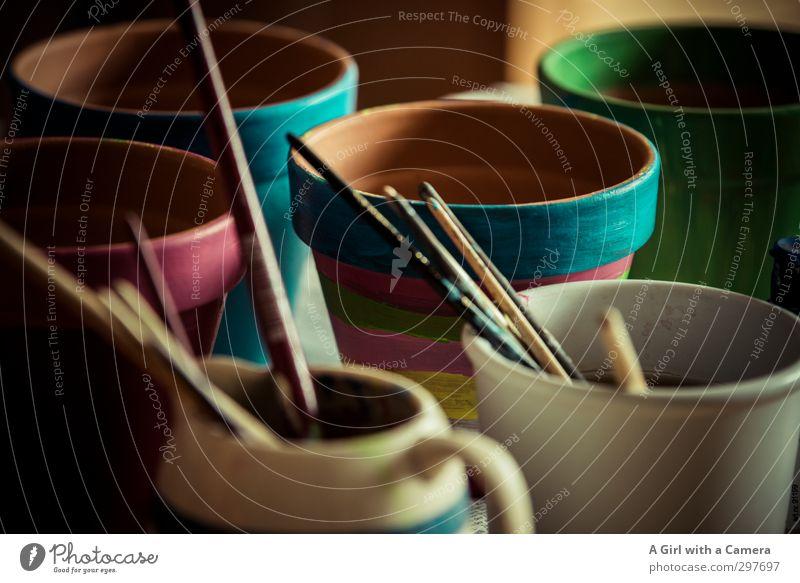 Painting (action, artwork) Round Paintbrush Flowerpot Handcrafts