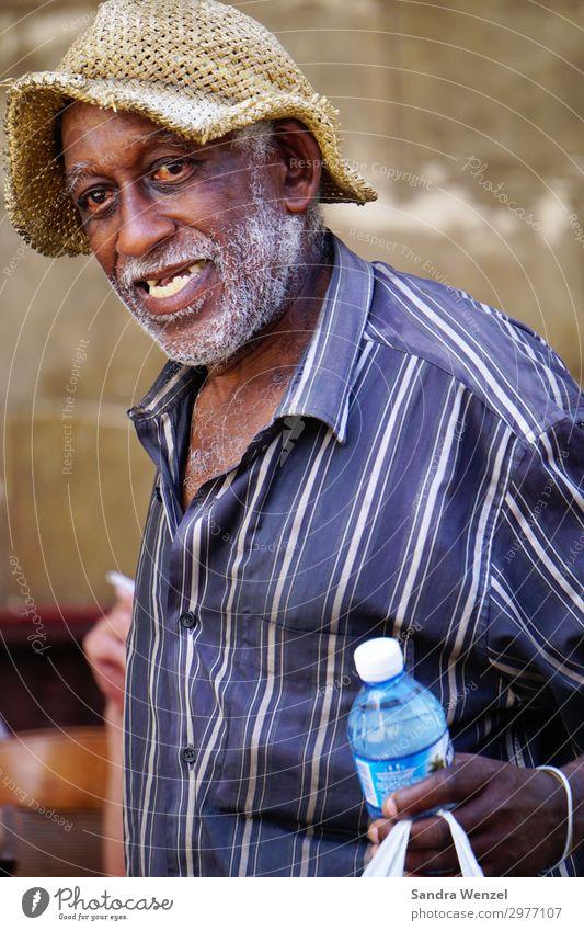 Cuban Human being Masculine Senior citizen Life 1 Shirt Hat Gray-haired Designer stubble Beard Hair Old Going To enjoy Exceptional Positive Thin Havana Man