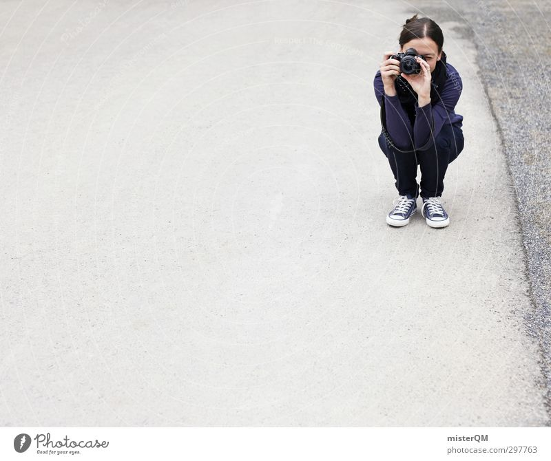 Snapshot. Human being Feminine 1 18 - 30 years Youth (Young adults) Adults Art Esthetic Lifestyle Photography Take a photo Girl Woman Leisure and hobbies Crouch