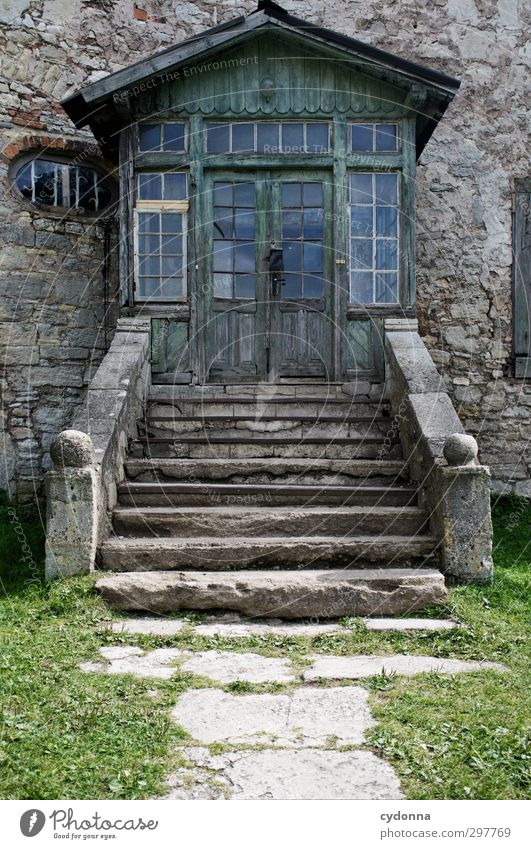 City Loneliness Wall (building) Lanes & trails Architecture Wall (barrier) Door Stairs Living or residing Idyll Esthetic Adventure Transience Target Mysterious