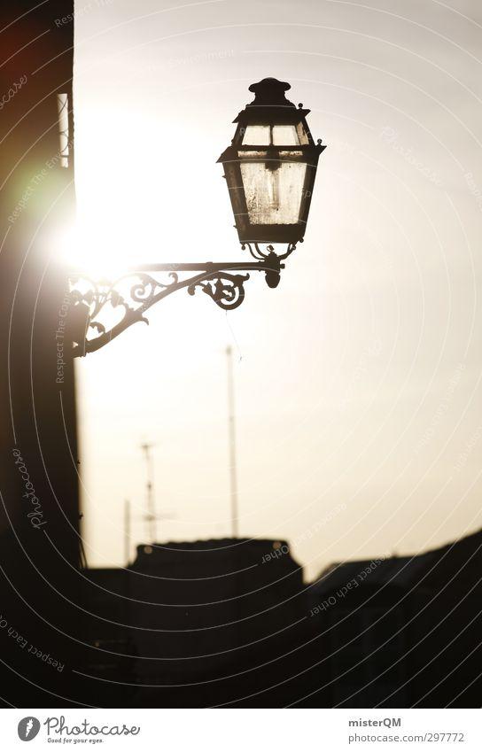 Lisa Lamp. Art Esthetic Lantern Street lighting Alley Mediterranean Sunlight Portugal Lisbon Romance City trip Town Vacation & Travel Vacation photo
