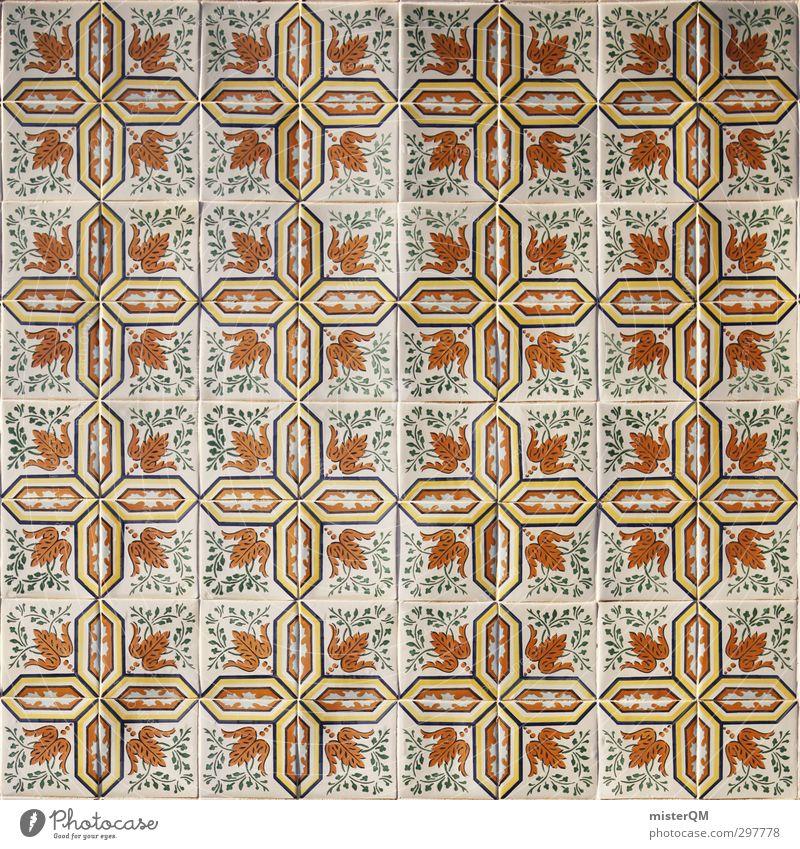 tiled. Art Esthetic Symmetry Tile Portugal Lisbon Square Facade Cladding Graphic Colour photo Multicoloured Exterior shot Detail Abstract Pattern Deserted