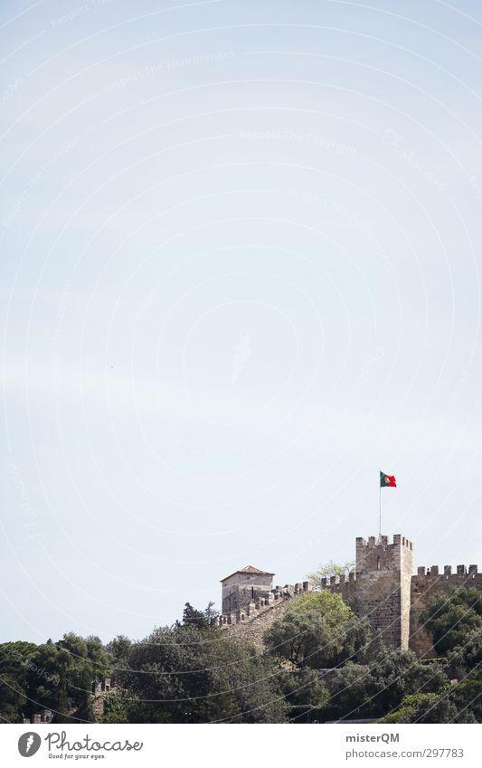 Lissburg. Art Esthetic Lisbon Portugal Castle Fortress Wall (barrier) Tower Keep Defensive Medieval times Historic Historic Buildings Colour photo