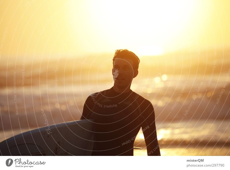 Man Ocean Relaxation Joy Art Contentment Leisure and hobbies Waves Gold Esthetic Belief Athletic Surfing Portugal Aquatics Surfer