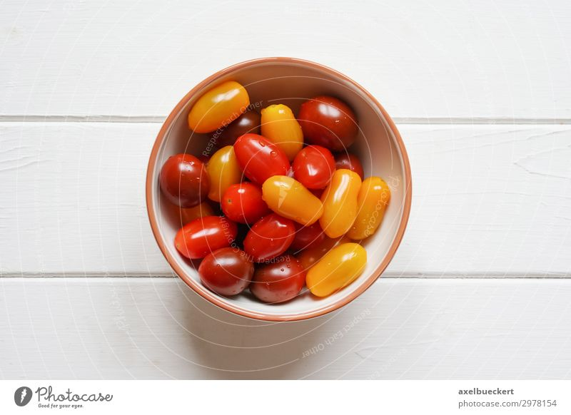 heirloom cherry tomatoes - tomatoes in bowl Food Vegetable Fruit Nutrition Vegetarian diet Healthy Eating Hip & trendy Multicoloured Yellow Red Still Life