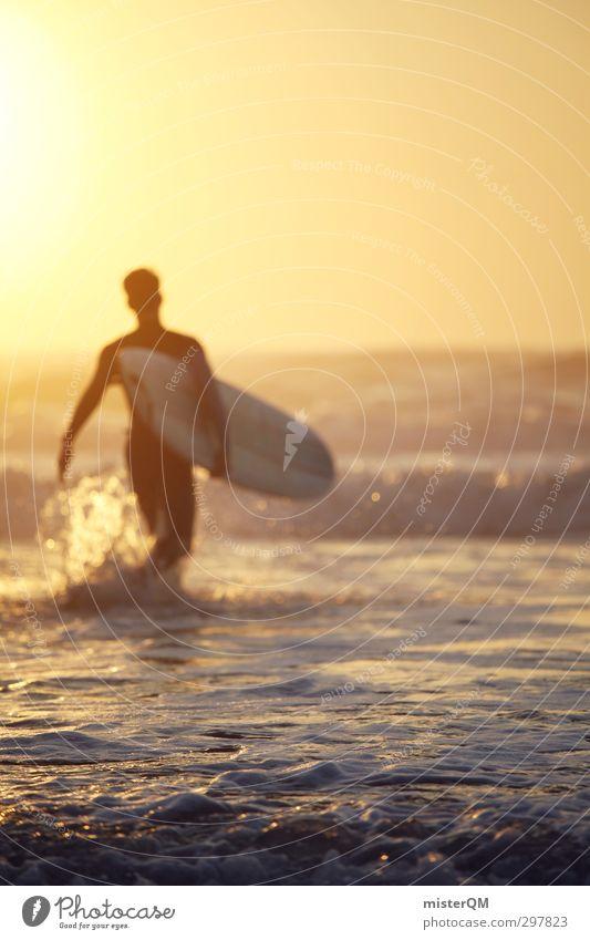 Man Summer Sun Ocean Joy Eroticism Sports Coast Style Art Waves Leisure and hobbies Elegant Action Design Lifestyle