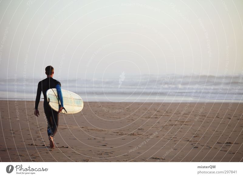 surfday. Lifestyle Style Art Esthetic Contentment Anticipation Surfing Surfer Surfboard Surf school Freedom Extreme sports Masculine Man Horizon Far-off places