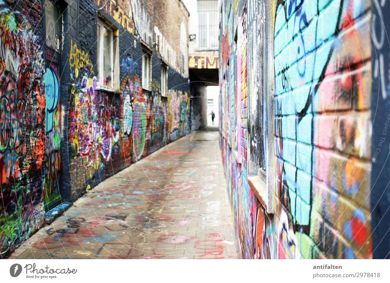 quite colorful here Lifestyle Style Vacation & Travel Tourism Trip Sightseeing City trip Art Culture Youth culture Subculture Ghent Belgium Europe Town Downtown