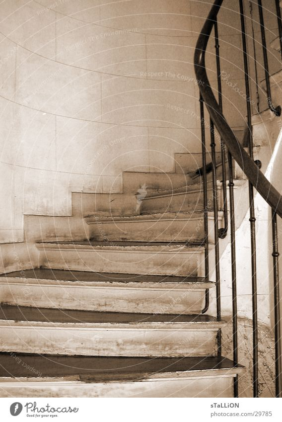 l'escalier Historic Stairs sephia Handrail Upward