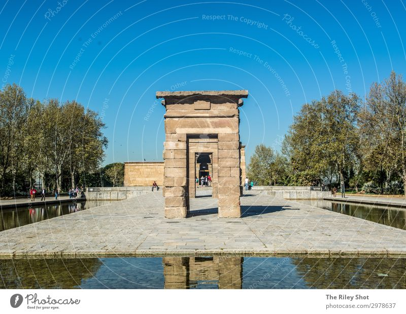 A scene at the temple debod, madrid. Vacation & Travel Summer Architecture Lifestyle Wall (building) Environment Movement Tourism Wall (barrier) Earth Trip