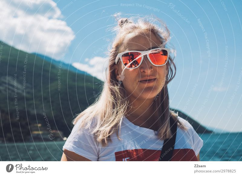 surf girl Lifestyle Leisure and hobbies Vacation & Travel Young woman Youth (Young adults) 18 - 30 years Adults Nature Landscape Summer Beautiful weather Alps
