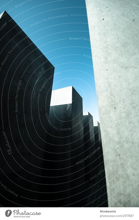 #297887 Sky Cloudless sky Manmade structures Architecture Wall (barrier) Wall (building) Stone Concrete Esthetic Exceptional Threat Sharp-edged Firm Tall Cold
