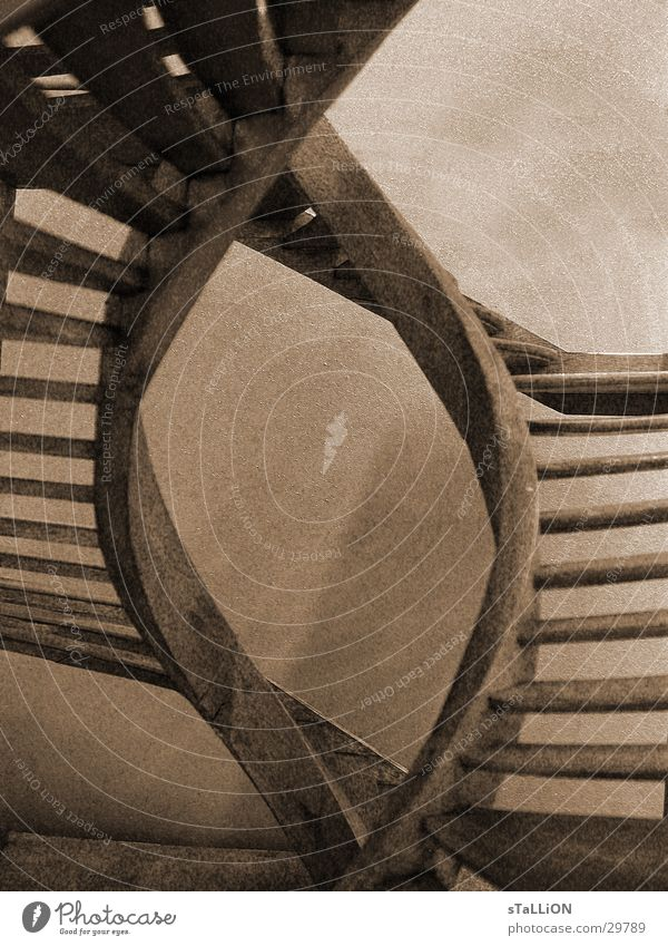 Wood Free Stairs Historic Double exposure Futile Brownish white
