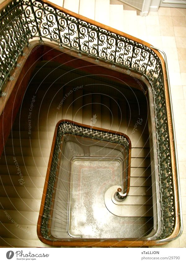 staircase Light Modern art Art nouveau Architecture Stairs Handrail