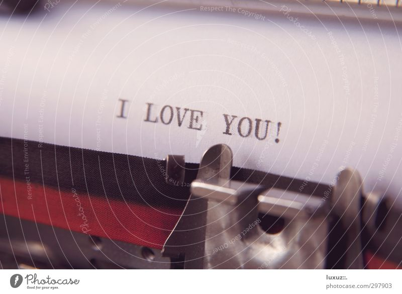 love letter Paper Piece of paper Sign Characters Write Retro Love Infatuation Lovesickness Longing Love letter With love Communication Affection Typewriter