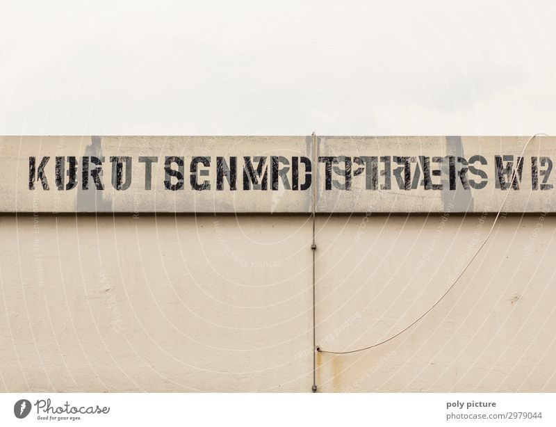 """Nürburgring """"Kurt Schmidtpeter"""" stencil script Lifestyle Leisure and hobbies Wall (barrier) Wall (building) Sign Characters Old Logo Stencil letters Racecourse"""